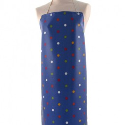 Adult PVC Apron Dot Happy Blue
