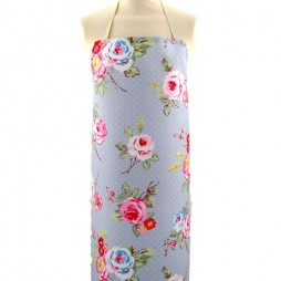 Adult PVC Apron English Rose Steel