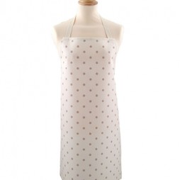 Adult PVC Apron Dotty Cream/Taupe