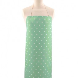 Adult PVC Apron Dotty Seafoam
