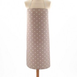 Adult PVC Apron Dotty Taupe