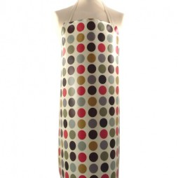 Adult PVC Apron Polka Red