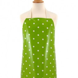 Childrens Dotty Lime Apron