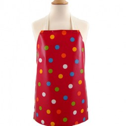 Childrens Dot Happy Red Apron