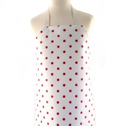 Childrens Just Dotty Cream/Red Apron