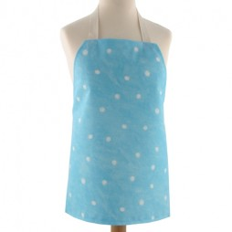 Childrens Spotty Turquoise Apron