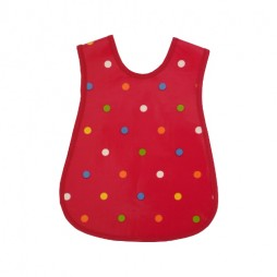 Childrens Dot Happy Red Tabard