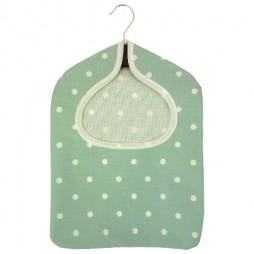 Dotty Seafoam PVC Peg Bag