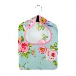 English Rose Duckegg PVC Peg Bag
