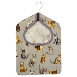 Cool Cats Silver PVC Peg Bag