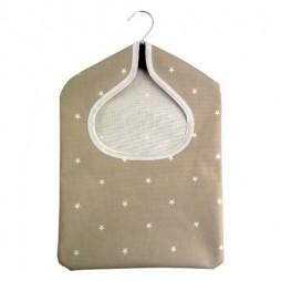 Stars Taupe PVC Peg Bag