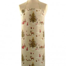 christmas apron woodland