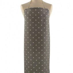 Adult PVC Apron Dotty Smoke