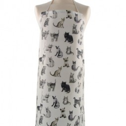 Adult PVC Apron Cool Cats Charcoal