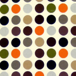 Polka Cinnamon Gloss Vinyl Coated Tablecloth