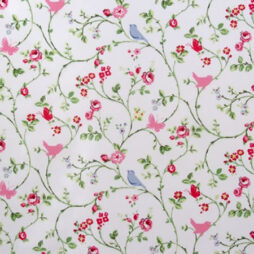 Bird Trail Chintz Gloss Vinyl Coated Tablecloth