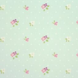 Blossom Duckegg Gloss Vinyl Coated Tablecloth