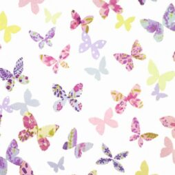 Butterfly Lilac Gloss Vinyl Coated Tablecloth