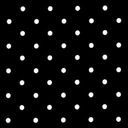 Dotty Black Vinyl Coated Tablecloth