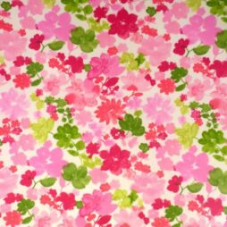 Fantasia Cerise Gloss Vinyl Coated Tablecloth