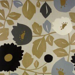 Phoebe Charcoal Matt Vinyl Coated Tablecloth