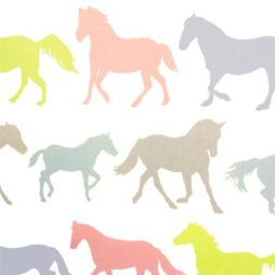 Stampede Pastel Gloss Vinyl Coated Tablecloth