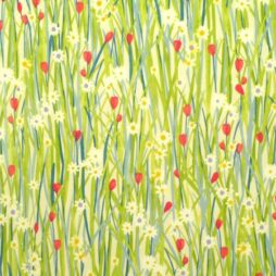 Summer Meadow Gloss Vinyl Coated Tablecloth