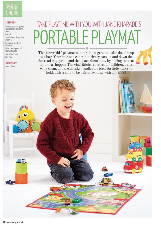 Vinyl portable playmat