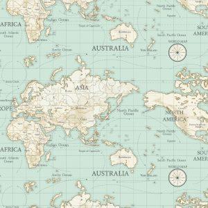 map classic tablecloth