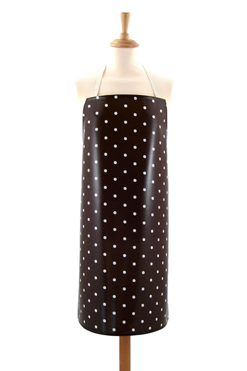 Adult PVC Apron Dotty Chocolate
