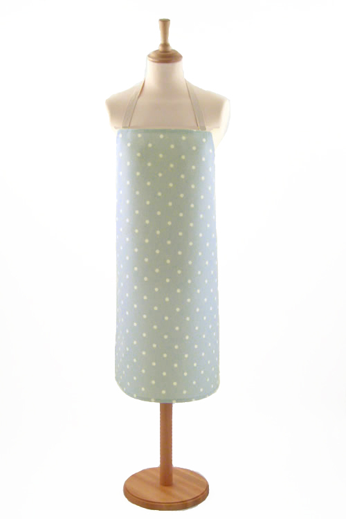 Adult PVC Apron Dotty Grey