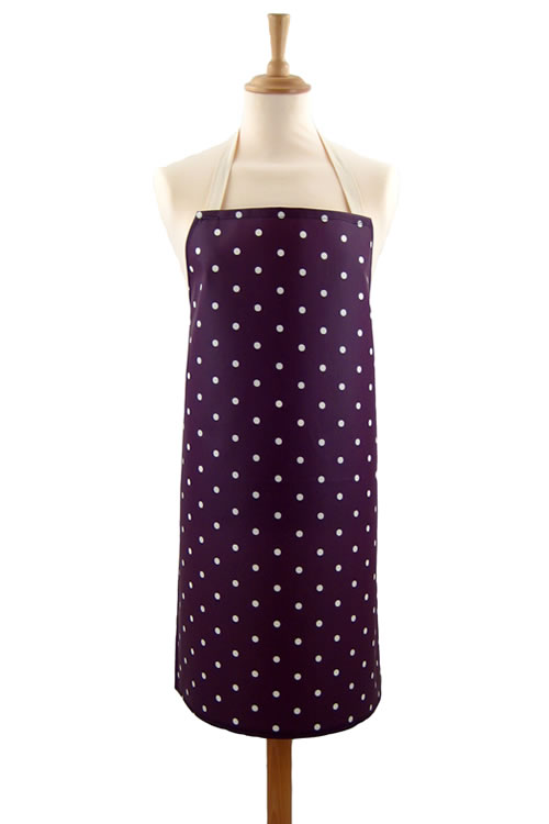 Adult PVC Apron Dotty Mulberry