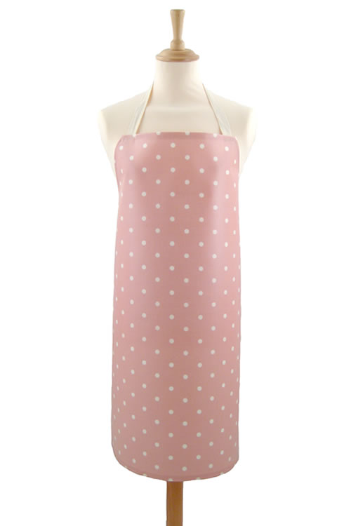 Adult PVC Apron Dotty Rose