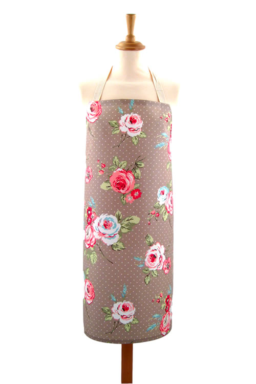 Adult PVC Apron English Rose Taupe