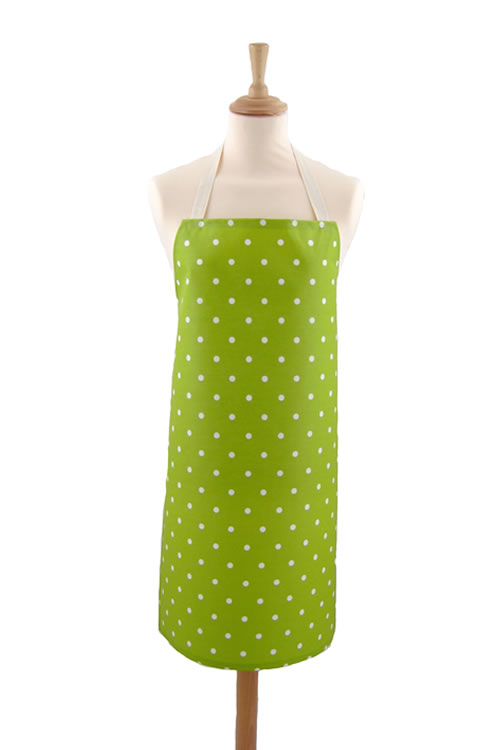 Adult PVC Apron Dotty Lime