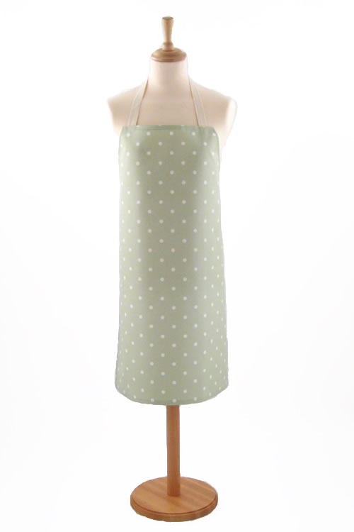 Adult PVC Apron Dotty Sage