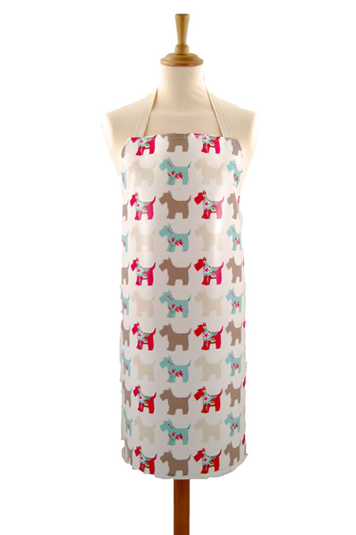 Adult PVC Apron Scottie Dog
