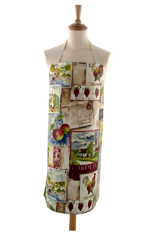 Adult PVC Apron Country Life Mulberry