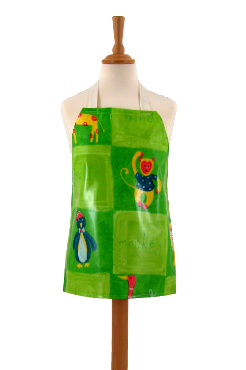 Childrens Zoo-be-Doo Lime Apron