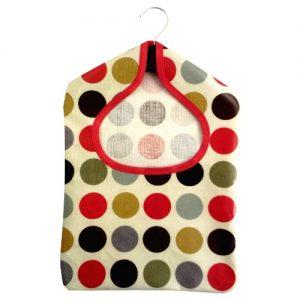Polka Red PVC Peg Bag