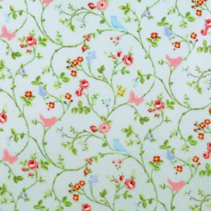 Bird Trail Seafoam Gloss Oilcloth