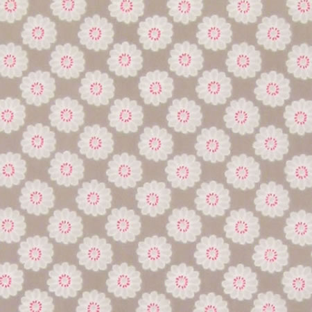 Maisy Taupe Gloss Vinyl Coated Tablecloth