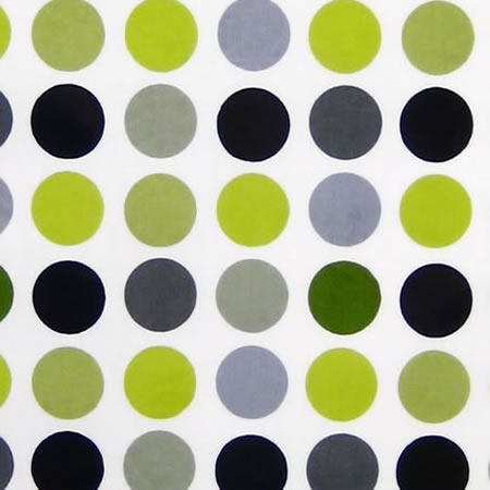 Polka Lime Gloss Vinyl Coated Tablecloth