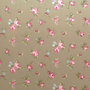 Rosebud Taupe Gloss Oilcloth