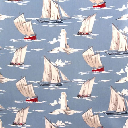 Set Sail Gloss Vinyl Coated Tablecloth