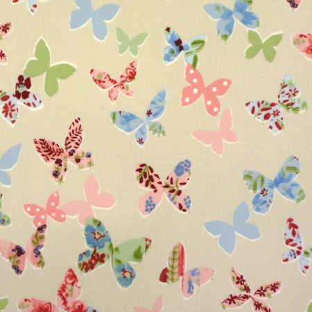 Butterfly Vintage Gloss Vinyl Coated Tablecloth