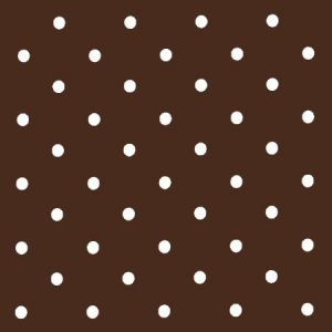 Dotty Chocolate Vinyl Coated Tablecloth