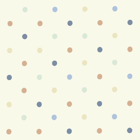 Dotty Cream/Multi Gloss Vinyl Coated Tablecloth