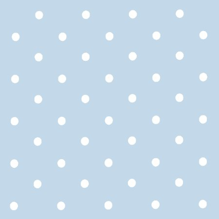 Dotty Powder Blue Vinyl Coated Tablecloth