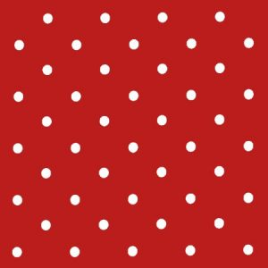 Dotty Red Vinyl Coated Tablecloth